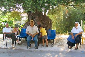 Photograph  of local people at Afionas