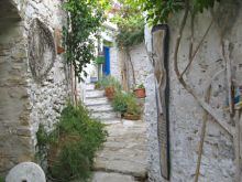 Photograph  of steps to house at Afionas